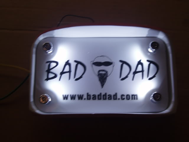 License Plate Led Studs Bad Dad Custom Bagger Parts For Your