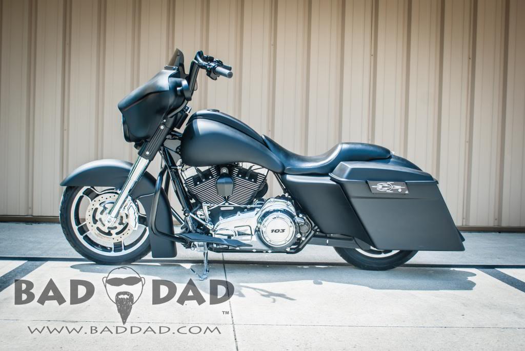 Slammed Front Fender Bad Dad Custom Bagger Parts For