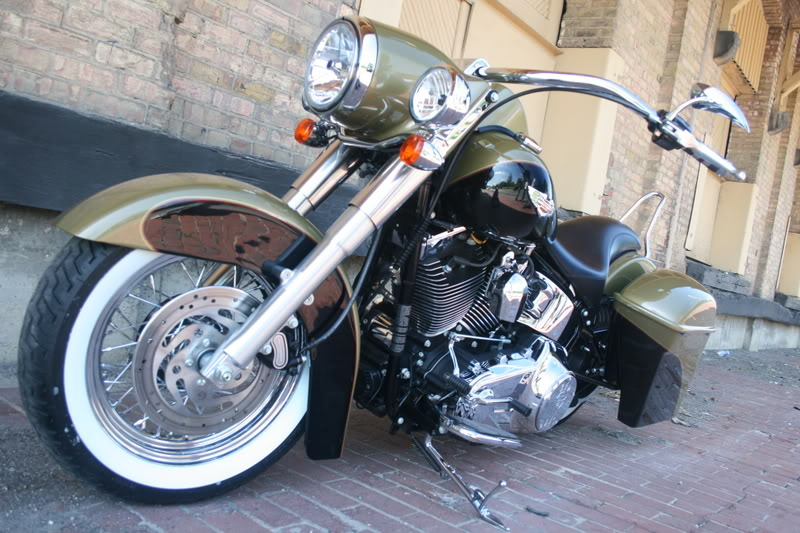 Softail Stretched Headlight Nacelle Bad Dad Custom