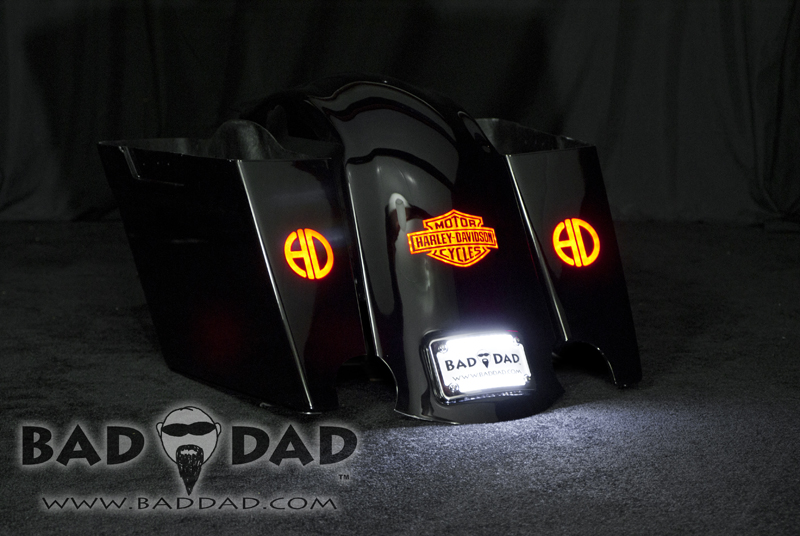 Stretched Saddlebags with Flush Mount Taillights
