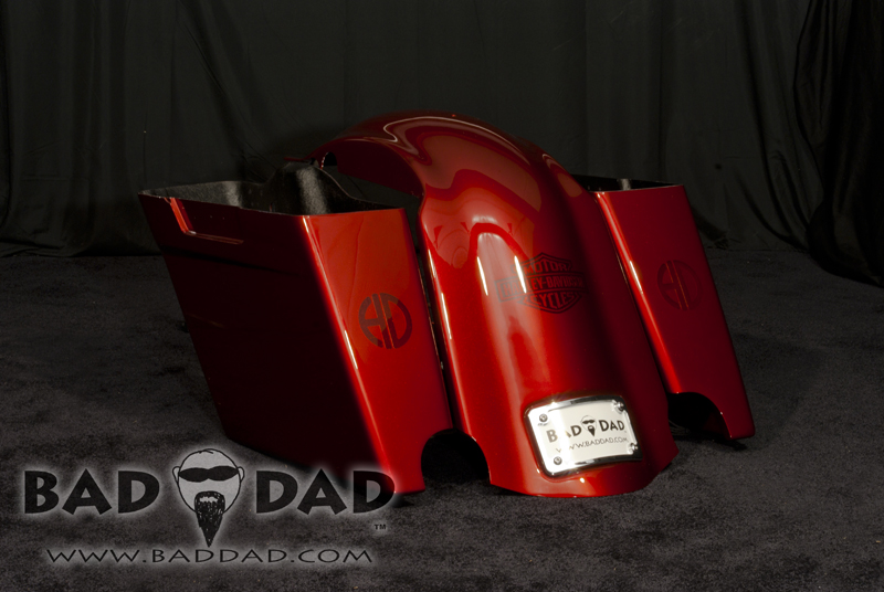 Stretched Saddlebags With Flush Mount Taillights Bad Dad