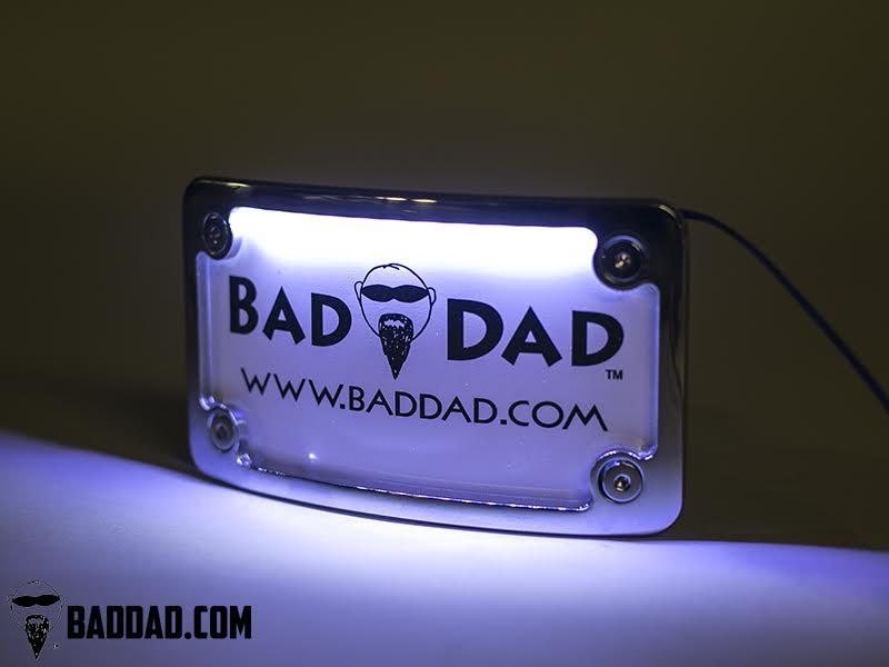 Premium License Plate Frame Bad Dad Custom Bagger