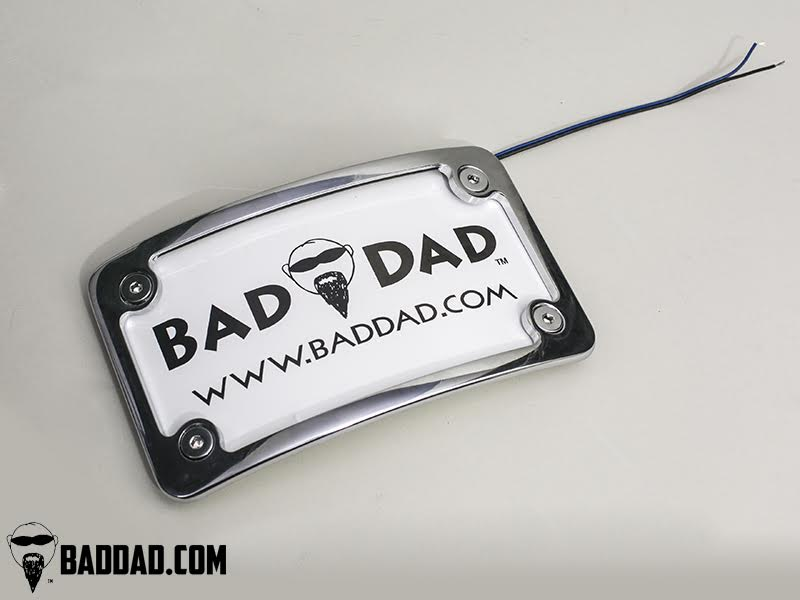 Premium License Plate Frame | Bad Dad | Custom Bagger Parts for Your ...
