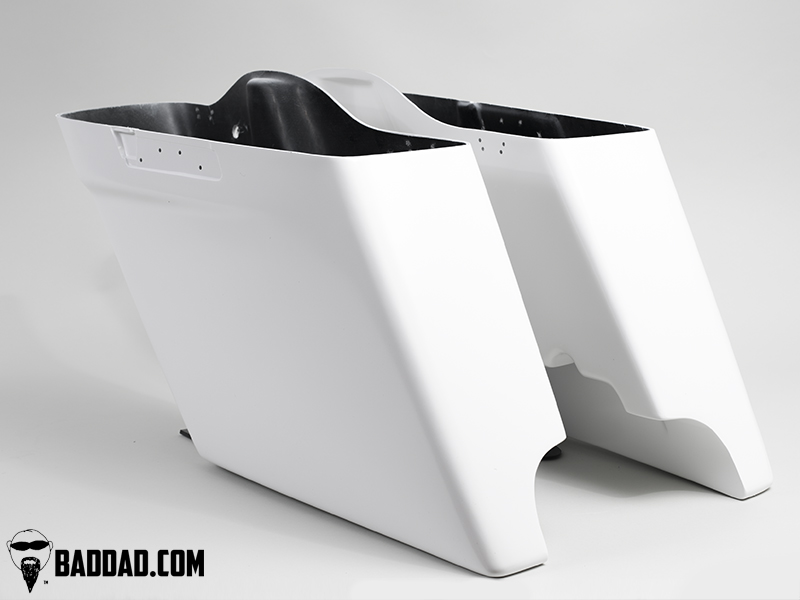 stretched saddlebags bad dad custom bagger parts for your bagger