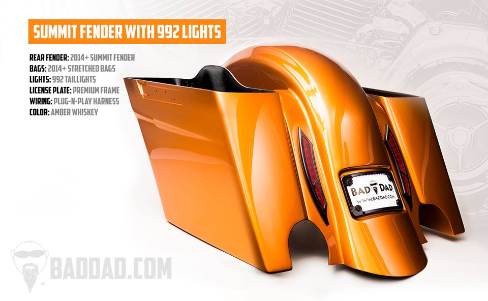 Summit Fender With Surface Lights Amp Bag Kit Bad Dad