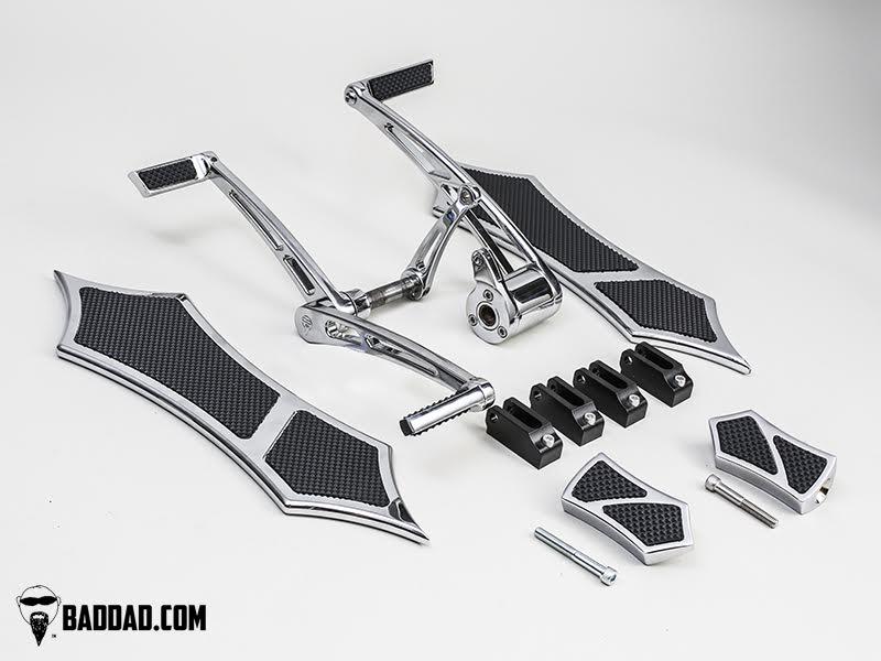 Forward Controls with Heel-Toe & 966 Floorboard Kit