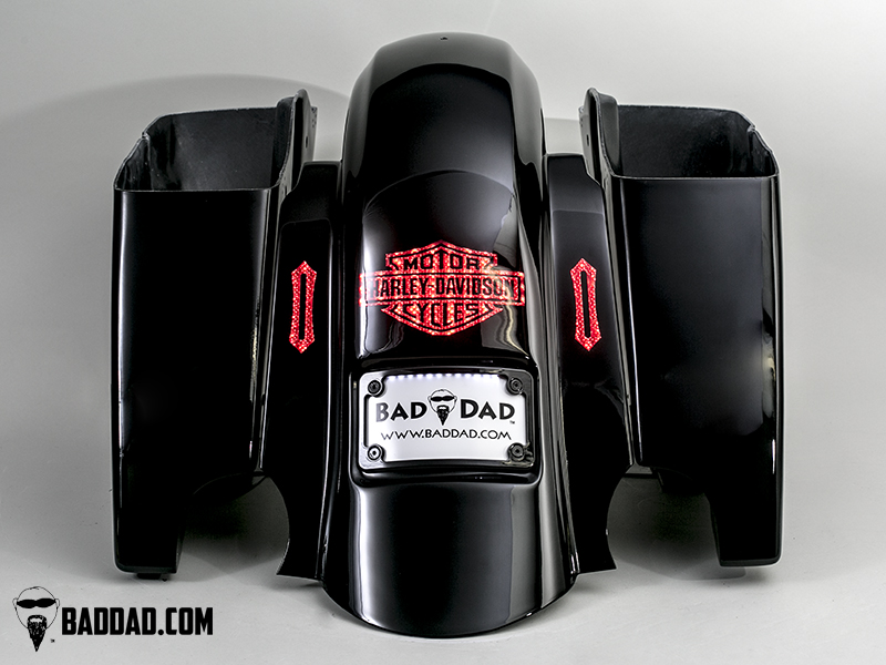 Fender with Flush Brake Light & Flush Turn Signals
